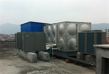 莫泰168酒店(空气能热泵工程)10P机4台,16T